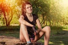 giovani atletici della donna fotografia stock