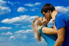 Giovani belle coppie Fotografia Stock