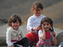 Giovani bellezze di Xinaliq Fotografie Stock