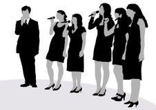 Giovani cantanti Immagini Stock Libere da Diritti