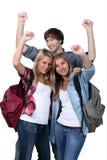Giovani che celebrano Fotografia Stock