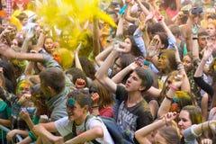 Giovani che hanno divertimento Fotografia Stock