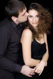 Giovani coppie allegre che flirtano Fotografia Stock Libera da Diritti