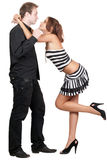 Giovani coppie allegre sexy Fotografia Stock