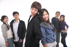 Giovani coppie asiatiche Immagini Stock Libere da Diritti