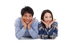 Giovani coppie asiatiche Immagine Stock Libera da Diritti