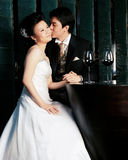 Giovani coppie asiatiche felici Fotografia Stock