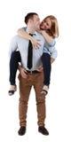 Giovani coppie che hanno divertimento Fotografie Stock