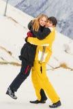 Giovani coppie che si abbracciano Fotografie Stock