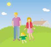 Giovani coppie con il bambino illustrazione vettoriale