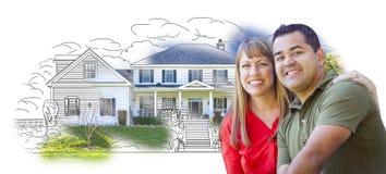 Giovani coppie con il disegno della casa illustrazione di for Programma di disegno della casa libera