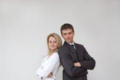 Giovani coppie di affari Fotografie Stock
