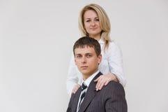 Giovani coppie di affari Fotografia Stock