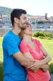 Giovani coppie di amore nei sogni Fotografia Stock