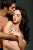 Giovani coppie etniche sexy Immagini Stock