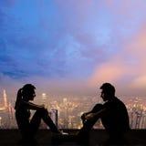 Giovani coppie faccia a faccia Immagine Stock Libera da Diritti