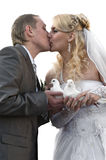 Giovani coppie felici del newlywed Fotografie Stock Libere da Diritti