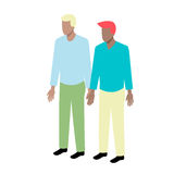 Giovani coppie gay isometriche Fotografia Stock