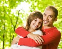 Giovani coppie nell'amore Immagini Stock Libere da Diritti