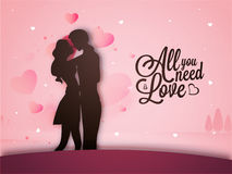 Giovani coppie per la celebrazione di San Valentino royalty illustrazione gratis