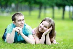 Giovani coppie romantiche Immagine Stock