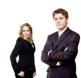 Giovani coppie sicure di affari Immagini Stock Libere da Diritti