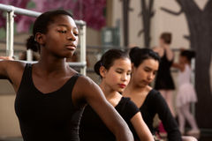 Giovani danzatori seri Fotografia Stock