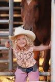 giovani del cowgirl Fotografie Stock Libere da Diritti