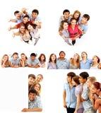 Giovani del grande gruppo eccellente Fotografie Stock Libere da Diritti