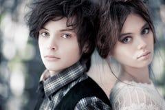 giovani del ritratto delle coppie Fotografia Stock Libera da Diritti