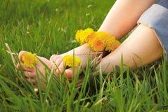 giovani della donna dei piedini Fotografia Stock