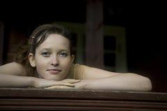 giovani della donna del ritratto del primo piano Fotografia Stock