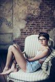 giovani della donna del ritratto di modo Fotografie Stock