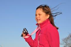 giovani della ragazza della macchina fotografica Fotografie Stock