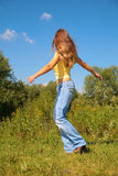 giovani della sosta della ragazza di dancing Fotografie Stock