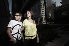giovani delle coppie della città Fotografie Stock