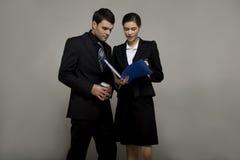 giovani delle coppie di affari Immagini Stock