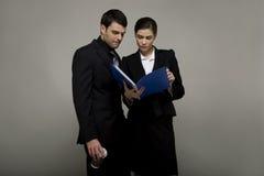 giovani delle coppie di affari Fotografia Stock