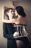 giovani di passione delle coppie Fotografia Stock