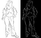 Giovani donne illustrazione di stock