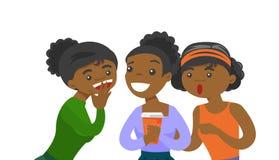 Giovani donne afroamericane che dividono i pettegolezzi illustrazione di stock