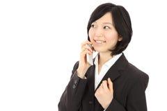 Giovani donne asiatiche da chiamare Fotografia Stock