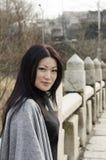 Giovani donne asiatiche piacevoli Fotografia Stock