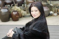 Giovani donne asiatiche piacevoli. Fotografie Stock Libere da Diritti