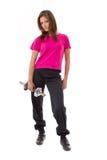 Giovani donne in buona salute con i pesi Immagini Stock