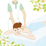 Giovani donne che ricevono il massaggio. royalty illustrazione gratis