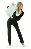 Giovani donne con il computer portatile Fotografia Stock
