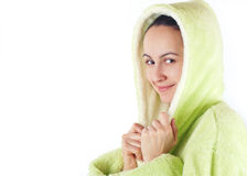 Giovani donne dopo il bagno Immagine Stock