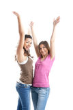 Giovani donne felici Fotografie Stock Libere da Diritti