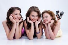Giovani donne impressionabili fotografia stock